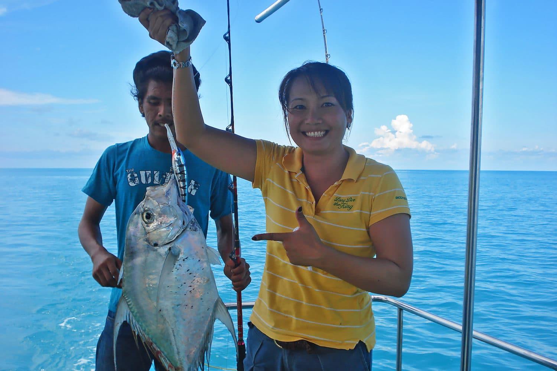 Angeltour Fisch gefangen