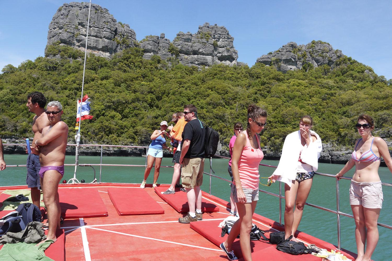 Angthong Tour Boot Sonnendeck