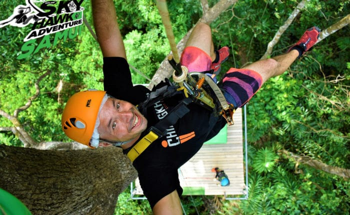 Zip Line Adventure Sky Hawk Samui Cable ride