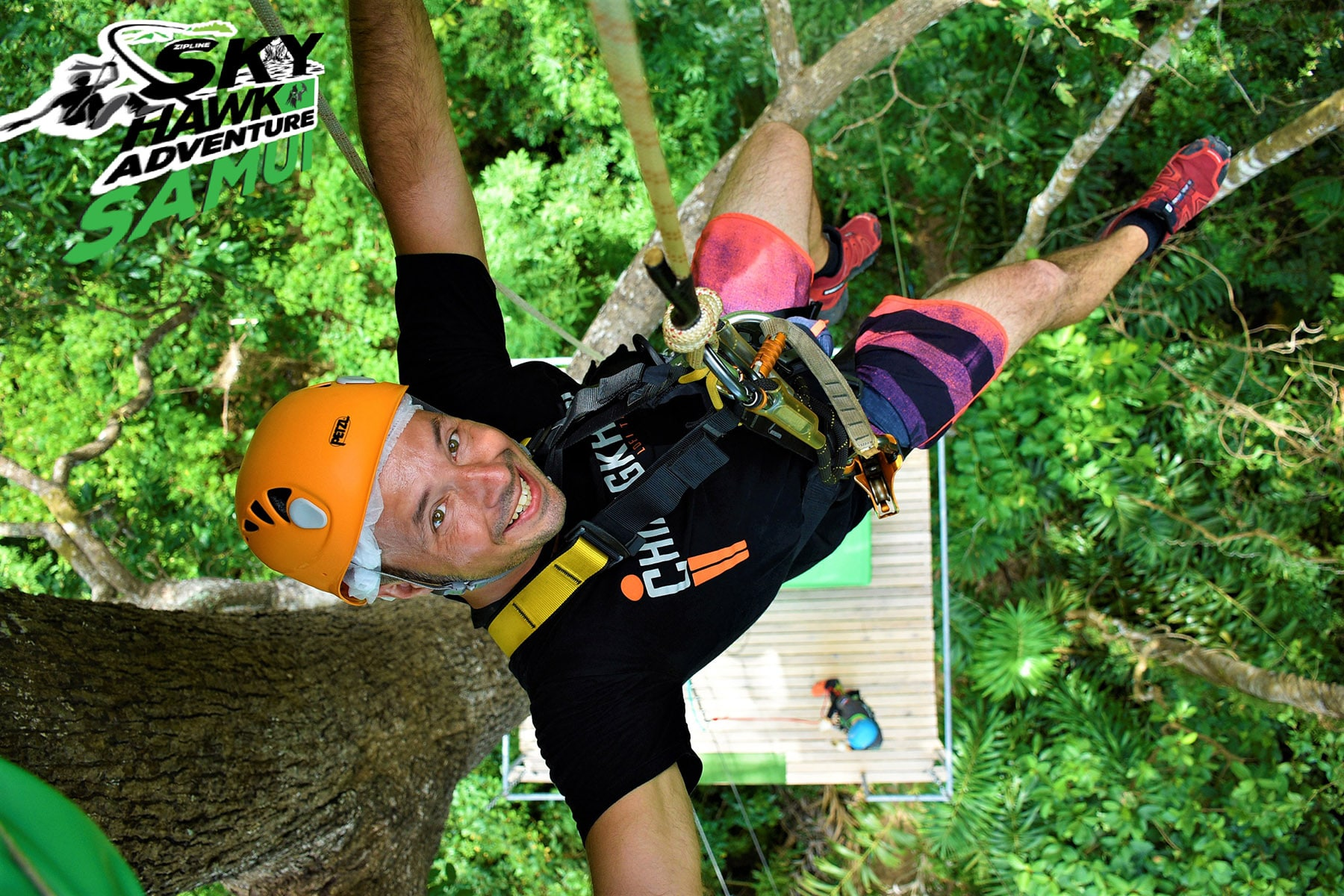 Zip Line Adventure Sky Hawk Samui Cable ride
